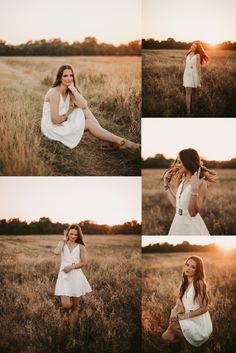 senior girl photoshoot in a field and white dress Senior Portraits Girl, Photography Senior Pictures, Senior Photos Girls, Senior Girl Poses, Portrait Photography Poses, Photography Poses Women, Senior Girls, Photo Poses, Senior Session