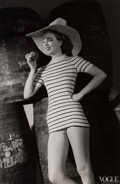 Vogue, 1939, and yet she wouldn't look out of place in today's fashion.