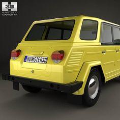 Volkswagen VW 181 1971 Yellow W// Soft Top Black Roof 1:43 Model 4305100 SOLIDO