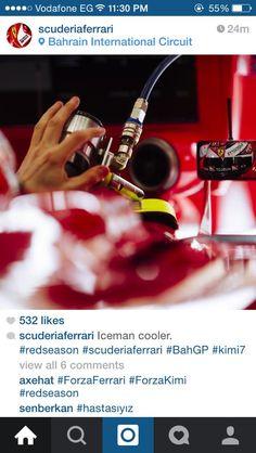 Iceman cooler. #BahrainGP