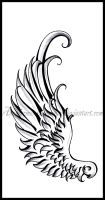 Hermes Wing- Tattoo design by DabsofKiwi