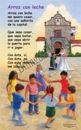 Products in Spanish - Bilingual Ayer y siempre Spanish Nursery Rhymes Rimas, juegos y canciones Traditional Hispanic Nursery Rhymes, http://www.bilingualplanet.com/ayer-y-siempre-posters.html