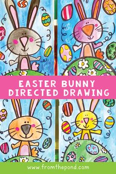 art projects for kindergarten Easter Bunny Directed Drawing Easter Art, Easter Crafts, Easter Bunny, Bunny Crafts, Easter Activities, Art Activities, Toddler Activities, Drawing For Kids, Art For Kids