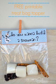 do you wanna build a snowman treat bags