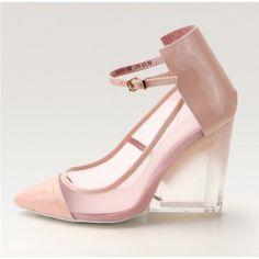 Posh Girl Baby Pink Wedge Heel  Shoes