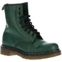 DR. MARTENS ankle boot (€160) ❤ liked on Polyvore featuring shoes, boots, ankle booties, botas, short boots, ankle boots, leather lace up boots, lace-up bootie and lace up boots