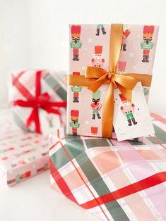 Pink Nutcracker Christmas Wrapping Paper Gift Wrap Set Bundle   Etsy