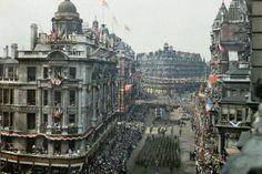 "19th July 1919: Colour photographs of London's ""Peace Day"""
