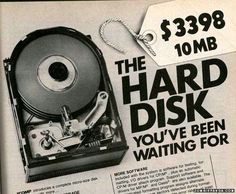 10mb hard drive for $3398 #geek #computer #history