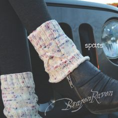 Boot Toppers or Spats  Knit Chalice Cable  Handmade with