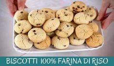 BISCOTTI GOCCIOLE 100% FARINA DI RISO Ricetta Facile e Senza Glutine – Gluten Free Cookies