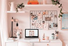 Home Office Room Design Ideas Study Room Decor, Cute Room Decor, Bedroom Decor, Small Desk Bedroom, Small Bedroom Furniture, Bedroom Modern, Small Bedrooms, Closet Bedroom, Trendy Bedroom