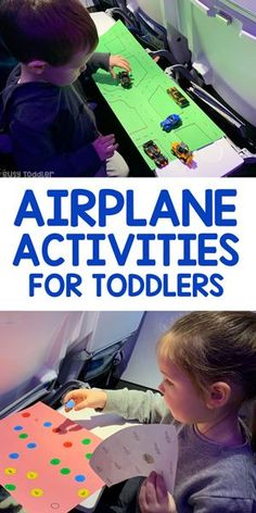 Looking for airplane activities for toddlers? Check out this amazing list of activiy ideas! A complete list of activities for an airplane.