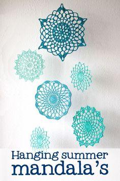 Ta-dah and free crochet pattern: Summer mandala's