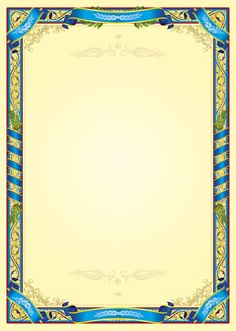 Бланк B003 - nagrada.ua™ Frame Border Design, Boarder Designs, Page Borders Design, Flower Picture Frames, Flower Frame, Borders For Paper, Borders And Frames, Certificate Background, Certificate Design Template