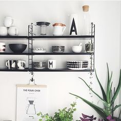 String is a Swedish company and sole producer of the original String Shelving; a timeless design by Nils Strinning. String Pocket, Interior Design Kitchen, Interior Design Living Room, Interior Decorating, Shelf Design, Küchen Design, Kitchen Furniture, Furniture Design, String Regal