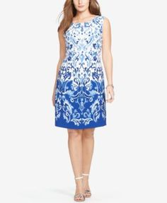 eb5014137c Lauren Ralph Lauren Plus Size Sleeveless Floral-Print Dress Women - Dresses  - Macy s