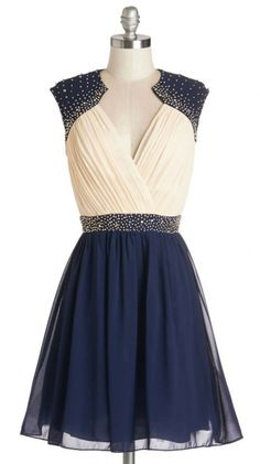 Lovely Lilt Dress. You immediately perk up when you slip into this two-toned party dress! #prom #modcloth