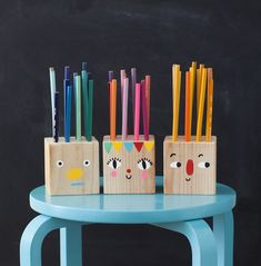 A Back-to-School Round Up Back-to-School time has always been a favorite time of year for me. I love school supplies and making them even m. Cool Diy Projects, Projects For Kids, Diy For Kids, Craft Projects, Crafts For Kids, Diy Crafts, I Love School, Back To School, Woodworking For Kids