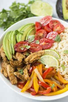 Vegan Fajita Rice Bowl                                                                                                                                                                                 More