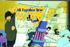 """During the beginning of the song """"All Together Now"""" in the movie """"Yellow Submarine"""", for a quick instant there are 2 Pauls -- why? Think about it. Paul Mccartney Conspiracy, Paul Is Dead, Robert Johnson, Sir Paul, Close Encounters, Yellow Submarine, Jim Morrison, The Fool, The Beatles"""
