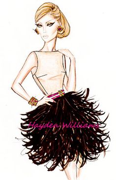 Hayden Williams Fashion Illustrations: Cocktail Couture by Hayden Williams