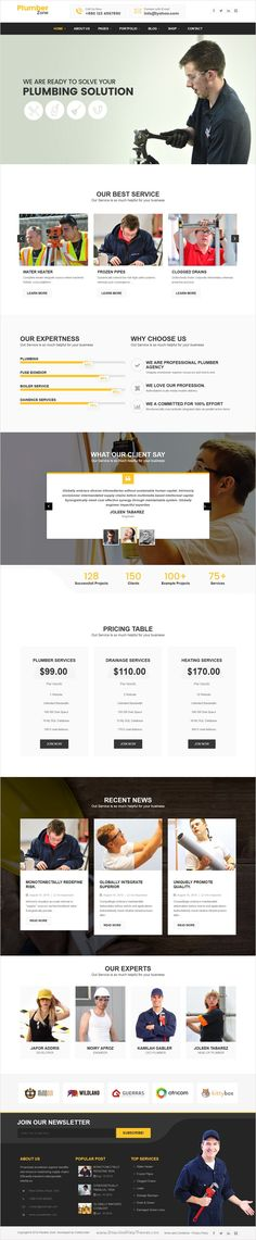 Plumber Zone is a modern and responsive #WordPress theme for #plumbers, electricians, #handyman, roof repairing, construction, building companies website download now➩ https://themeforest.net/item/plumber-zone-plumbing-repair-construction-wordpress-theme/16697706?ref=Datasata
