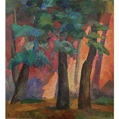 - Robert Rafaelovich Falk , 1886-1958 trees oil on canvas