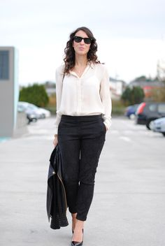 silk top with pants