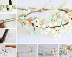 Wire And Nail Polish Flowers Video Tutorial
