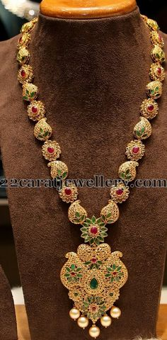 Flower and Mango Clasps Long Chain | Jewellery Designs