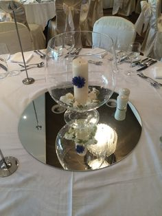 Candle Centerpiece West Cork Weddings on the Bay at the Maritime Hotel West Cork