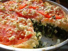 Spinach & Feta Tomato Pie