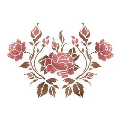 View album on Yandex. Flower Background Wallpaper, Flower Backgrounds, Stencil Patterns, Stencil Designs, Stencil Painting, Fabric Painting, Fabric Paint Designs, Korean Painting, Hand Embroidery Flowers
