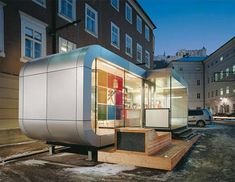 Nomadhome: a place of change...... The structure is based on 11m2 modules, the smallest house starts with a tiny space of 22m2. You are flexible in your planning solutions, for you can always add modules or take them away. Constructions time is approx. 2-3 days, and the whole product is manufactured in Austria