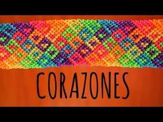 Corazones / Pulseras de macramé ♥