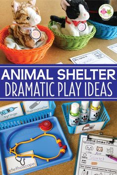 Are you looking for new dramatic play ideas for your classroom Learn how to set up an animal shelter dramatic play area Ideas for props dress up clothes literacy opportun. Dramatic Play Themes, Dramatic Play Area, Dramatic Play Centers, Preschool Classroom, Preschool Activities, Pet Theme Preschool, Preschool Learning, Summer Activities, Family Activities