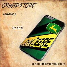 JOhn Deere Logo Green Snap on 2D Black and White Or 3D Suitable With Image For Iphone 6 Case