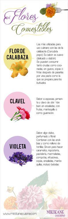 Las tres flores comestibles más utilizadas en España. www.mikikanecuisine.com