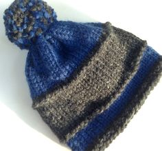 Articles similaires à CHARCOAL GREY   Royal BLUE Custom Beanie Hat, For  Girls Boys Ladies Men, Hand Knit Gift for Father s Day Grad, Wool Acrylic  Gift for ... 391f34df8ea