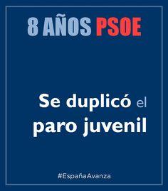 Paro juvenil PSOE #DEN2014