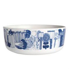 Siirtolapuutarha skål blå - blå - Marimekko