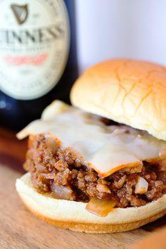 Chorizo Stout Sloppy Joes | tablefortwoblog.com