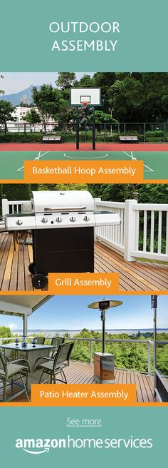 Got hoops? Maybe you need help getting your grill on. Or is that instruction manual for that patio heater got you running in circles?  Hire a professional assemblist for your  basketball hoop, grill, patio heater or for other outdoor assembly projects.