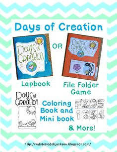 http://kidsbibledebjackson.blogspot.com/2014/08/creation-lapbook-file-folder-game-more.html