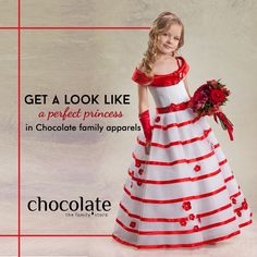 Get a look like a perfect princess in #Chocolate #family apparel www.chocolatefamily.com #KidsFashion #PrincessApparels #PerfectCollection
