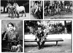 Set of Black / White postcards  Reading Riding and Playing Hooky - by MaxAndCoPost, $3.99