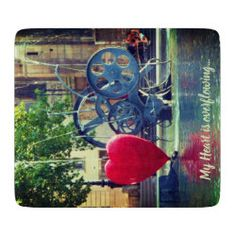 My Heart is overflowing Cutting Board Navy And Green, Red And Blue, Glass Cutting Board, Day Up, Corner Designs, Love Notes, Love Letters, Home Accessories, My Heart