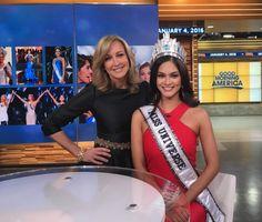 Miss Universe 2015 Pia Alonzo Wurtzbach starts media tour #missuniverse #missuniverse2015