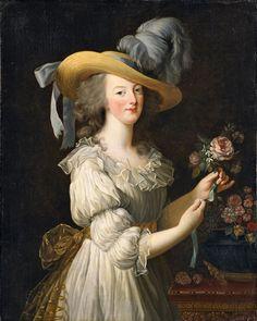 Marie-Antoinette en chemise ou en gaulle, vers 1783 peinte par Elisabeth Vigée Le Brun
